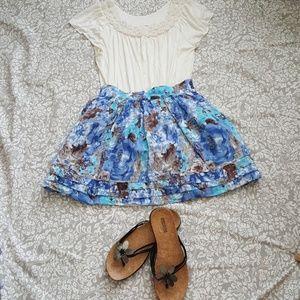 Papaya floral skirt NWT